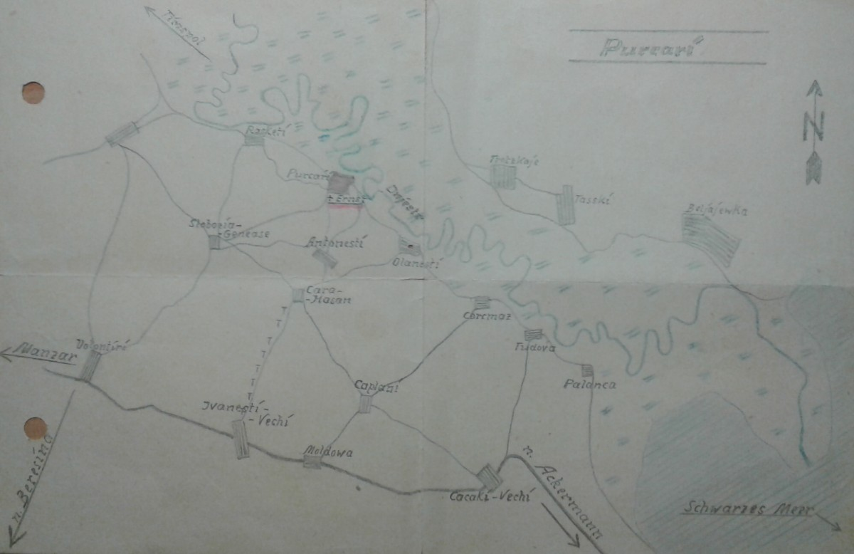Karte von Purcari am Dnjestr